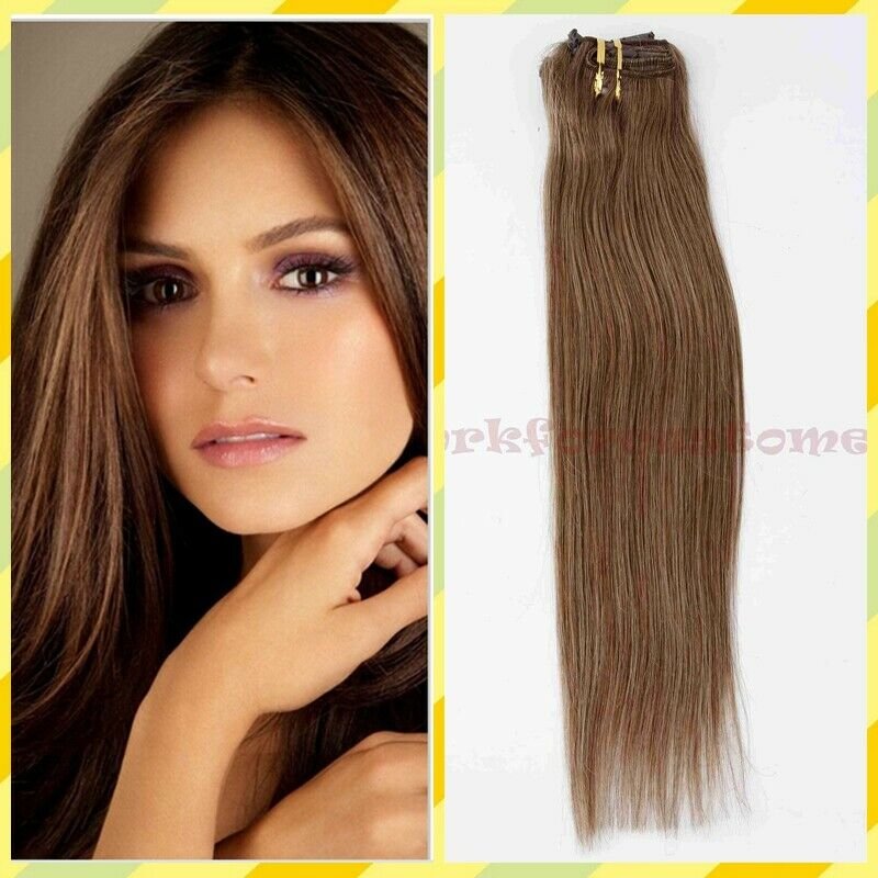 7pcs 15 18 20 22 Clip In Remy Real 100 Human Hair Extensions