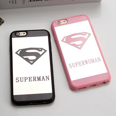 Superman & Superwoman Mirror Surface iPhone 6/6 Plus/6s Plus Black/Pink - Superwoman Pink