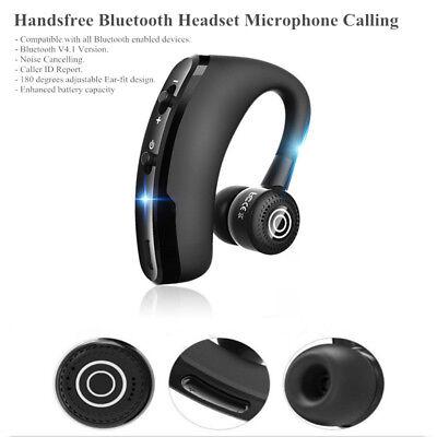 Bluetooth Headset Wireless Earpiece Mic Earbud FOR SAMSUNG GALAXY Note 9 S8 S9 Galaxy Wireless Microphone