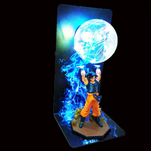 "Dragon Ball Z Goku Son Gokou Genki Dama Spirit Bomb Statue Figure 14"" LED Lamp"