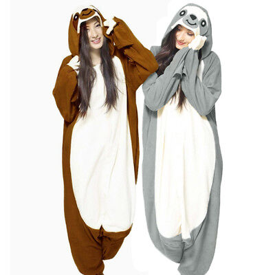 Adult Kids Sloth Onesie0 Kigurumi Pajamas Animal Costume by USPS Priority Mail!!