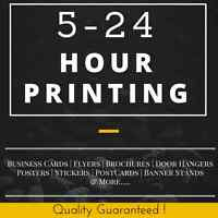 Sameday Rush Printing 5-24Hr Turnaound GTA, Vaughan, Brampton