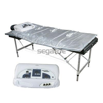 Sauna Blanket Far Infrared FIR 3 Zones Weight Lose Spa Detox Slimming Machine