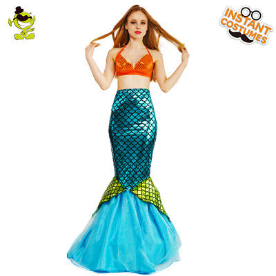 Women Sexy Mermaid Bling Costume Chirstmas Cosplay Party Fancy Dress Costume