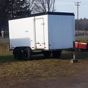 enclosed trailer 12 x 7  with 7000 lb axels