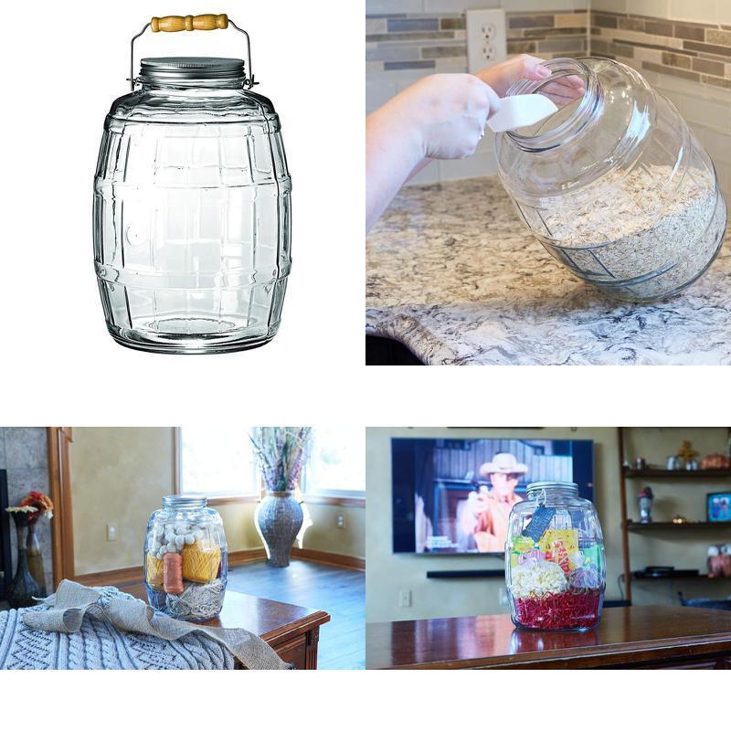 2 5 Gallon Barrel Glass Jar Lid Anchor Hocking Aluminum Brus