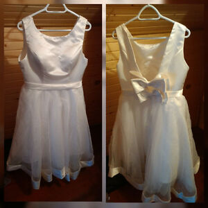 Three bridal shower/ wedding dresses