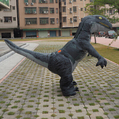 2019 Inflatable Costume Velociraptor Dinosaur Adults Cosplay Party Blow Up Suits