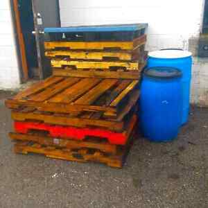 Free pallets and food grade drums