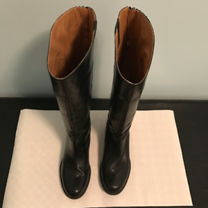 Nine West - Black Leather Riding Boots