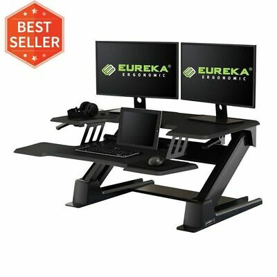 Eureka Ergonomic Height Adjustable 36 Inch Standing Desk Converter