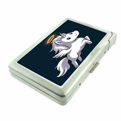 Unicorn Angel Em1 Cigarette Case with Built in Lighter Metal Wallet ()