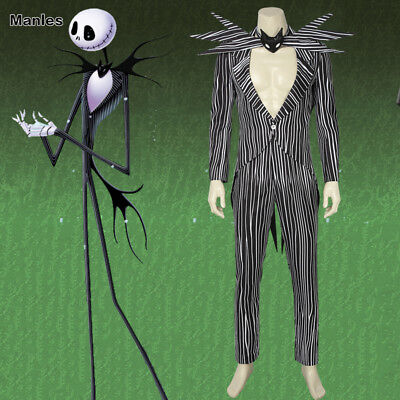 The Nightmare Before Christmas Cosplay Jack Skellington Men Costume Outfits Suit](Jack Skellington Outfit)