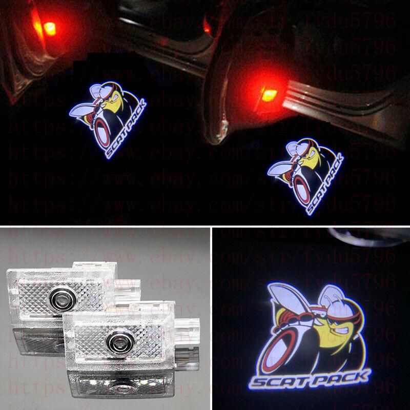 dodge charger scat pack door lights 1pc Door Projector Ghost Shadow Logo Light for Dodge Charger Scat