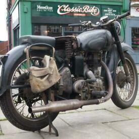 1949 Royal Enfield Model G 350 Classic Vintage Rare, Original & Unmolested