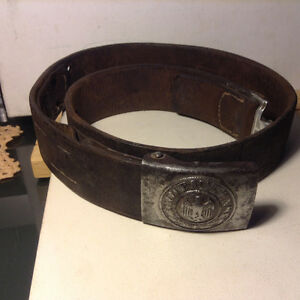 Old German Army belt and buckle WW 2