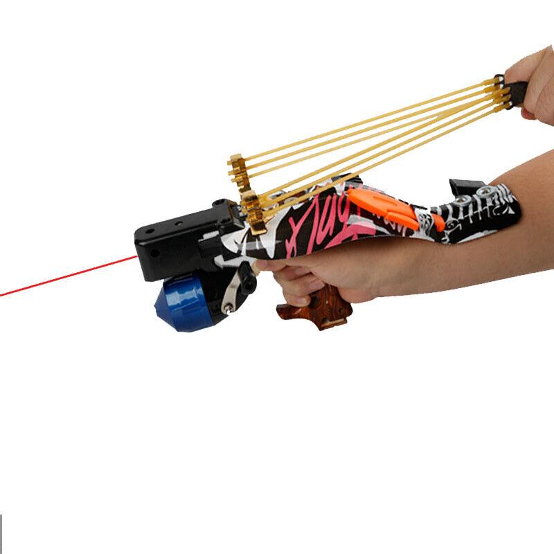 Fishing Slingshot Kit Catapult Bow Bowfishing Darts Reel Archery Hunting Target