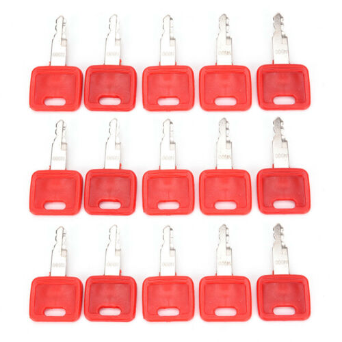 Heavy Equipment Ignition Keys for Hitachi H800 Red Excavator Key Switch Part_CA
