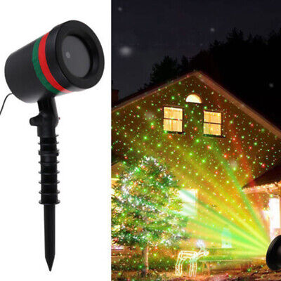 Stage Outdoor Star Shower Laser Light Projector Lamp 3D Effect Lawn Garden Party