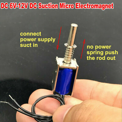 Mini Dc3v-12v Electromagnet Solenoid Valve Suction Type Push Pull Frame For Lock