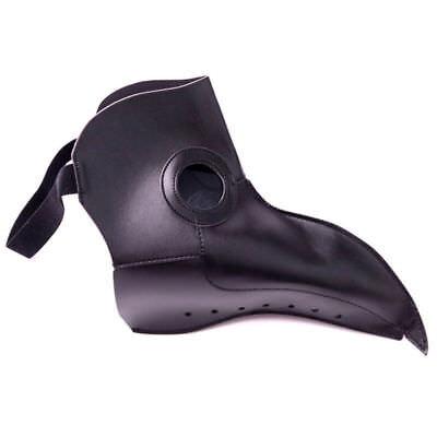Steampunk Leather Plague Doctor Bird Mask Cosplay Gothic Halloween Costume Black - Black Bird Halloween Costume