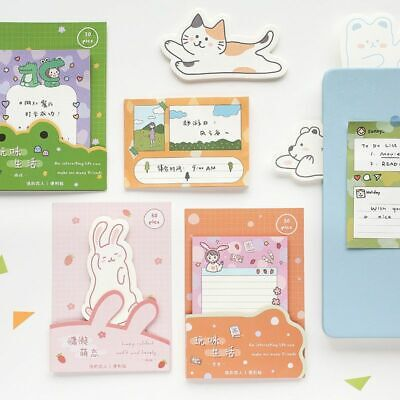 Animal Cartoons Style Sticky Note Pad Self-adhesive Reminder Memo Paper Pads New