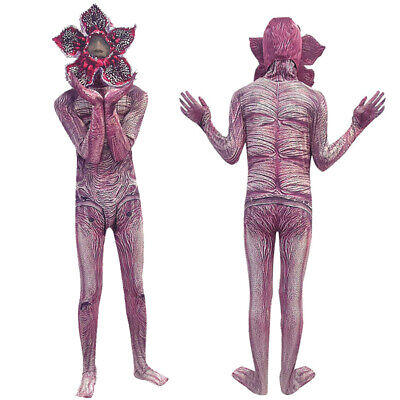 Halloween Unusual Costumes (Halloween Strange Demogorgon Cosplay Costume The Monster Jumpsuit Mask Adul)