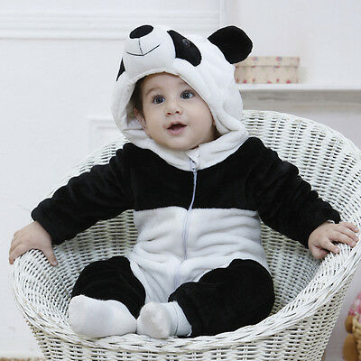 Hot Boy Girl Kids Warm Winter Panda Animal Overall Thicken Romper Clothes 0-3Y - Hot Girl Kids