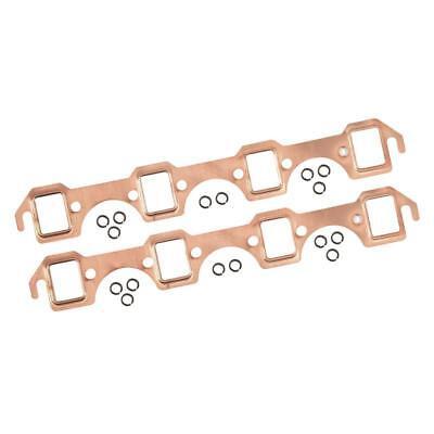 Mr Gasket Exhaust Manifold Gasket Set 7160; Copper for Ford SBF