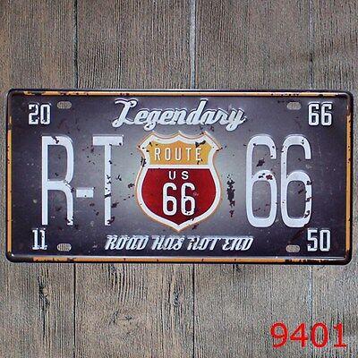 Metal Tin Sign legendary route 66 Decor Bar Pub Home Vintage Retro Poster Cafe