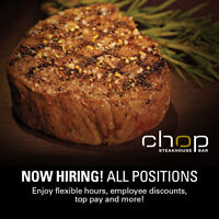 Chop Vaughan Hiring ALL POSITIONS - JOB FAIR