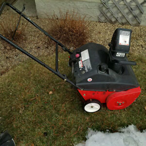 "MTD 4.5 HP 2 Cycle Snow Blower with 21"" wide rubber auger blades"