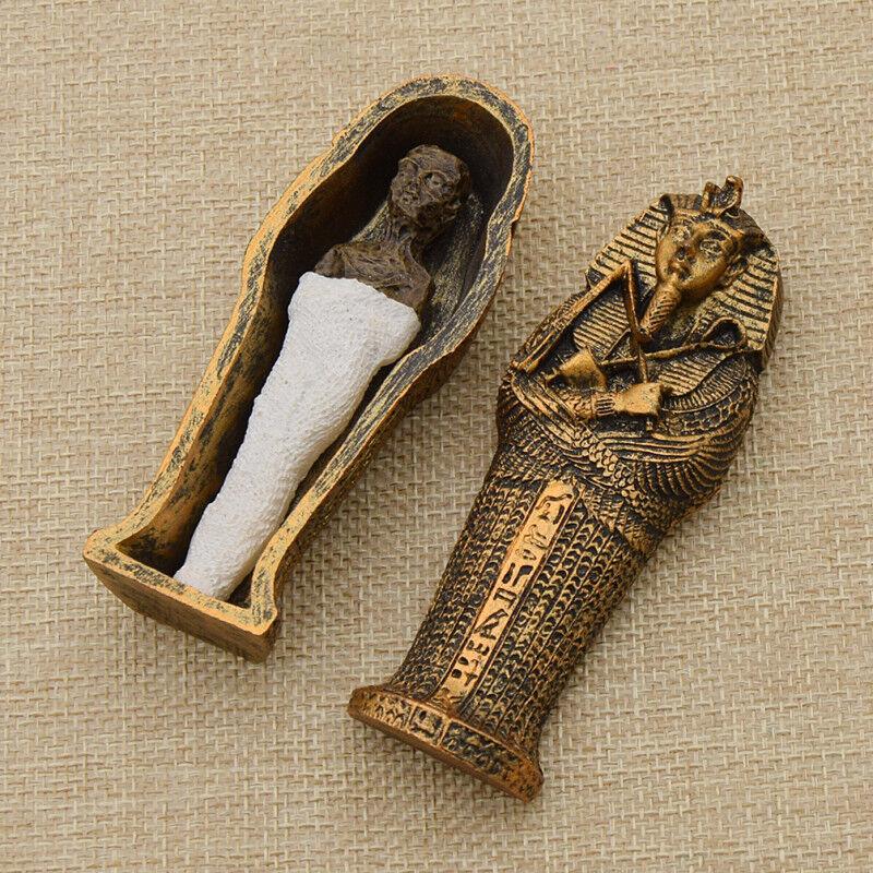 Egyptian Mummies Figure Mummy in a Sarcophagus Tutankhamun Resin Statue
