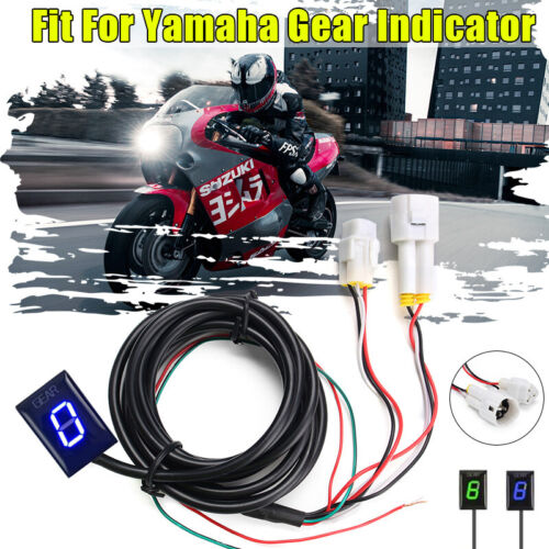 Color : Blue Light Gear indicator For Yamaha FZ8 2010-2015 FZS 1000 Fazer 2001-2015 MT 01 MT01 2005-2012 Motorcycle Gear Indicator 1-6 Level Digital Gear Meter