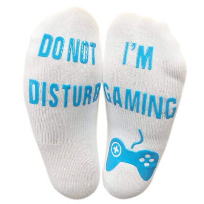 1 Pair Funny Cotton Socks Letters Do Not Disturb I'M Gaming Comfortable Hip Hop (Sock Hop Games)