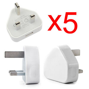 wholesale UK MAINS USB PLUG CHARGER ADAPTER FOR iPhone 4 4s 5 iPod Samsung HTC
