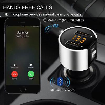 Auto FM Transmitter Modulator Bluetooth Car Kit KFZ Zigarettenanzünder Dual USB