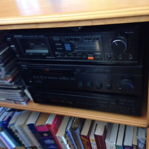 Yamaha receiver and cd player and Kenmore Cassette tape deck $69