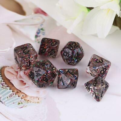 7pcs/set Polyhedral Irregular Multi Sides Numbers Dice Board Game Role Playing
