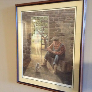 Professionally framed numbered prints