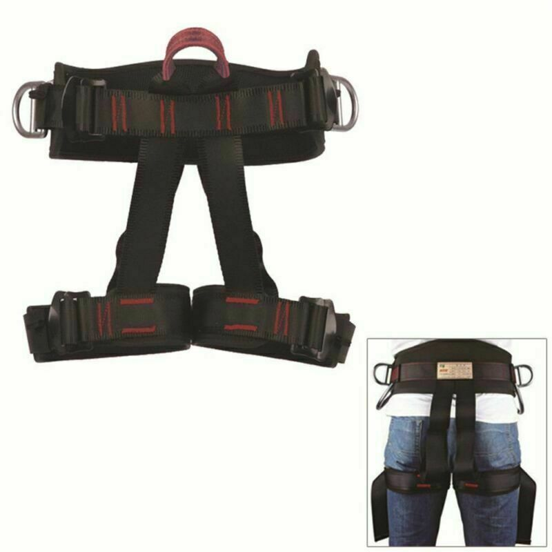 Half Body Safety Rock Climbing Rappelling Fall Protection Harness Belt Equip USA