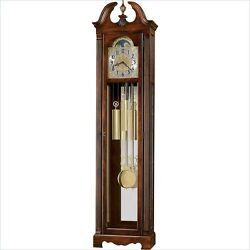 Howard Miller Warren Grandfather Clock in Cherry Bordeaux