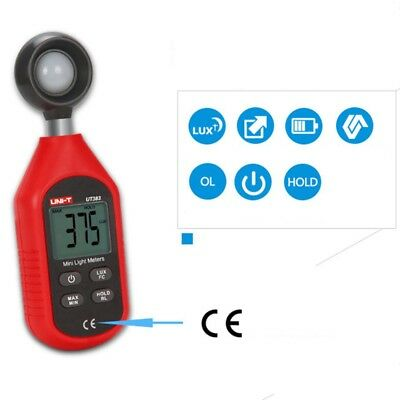 Uni-t Ut383 Digital Luxmeter Light Meter Lux Fc Meter Luminometer 200000 Lux