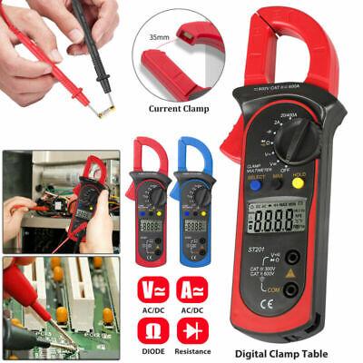 Digital Multimeter Tester Ac Dc Volt Ohm Amp Clamp Meter Auto Range Current Lcd