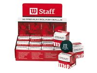 Wilson Staff Double Yellow (Dozen Box) - Brand New - Squash Balls