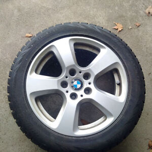 """BMW 17"""" rims and Blizzaks used 1.5 years 5 Series 2003-2009 London Ontario image 1"""
