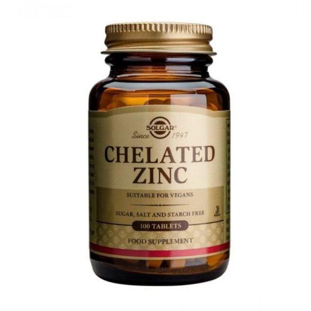 Solgar Chelated Zinc Tablets 100