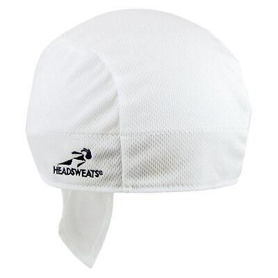 870efb9f34e3b SHORTY HEADSWEATS COOLMAX BICYCLE CYCLING CAP HAT HEADBAND BANDANA NEW WHITE