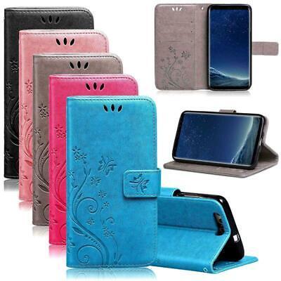Handy Tasche für Samsung Galaxy S5 Schutz Hülle Blumen Flip Case Wallet Etui ()