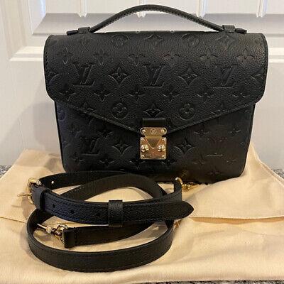Louis Vuitton Pochette Métis Black Bag - Monogram Empreinte Leather